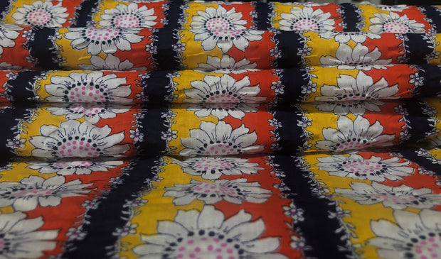 Sunflower Psychedelics - Woven - 1/2 meter - FABCYCLE shop