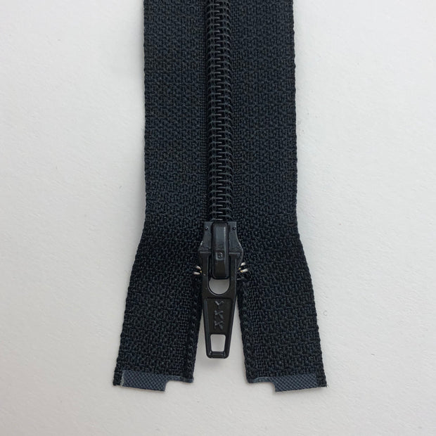 "25"" Coil Zipper - Separating - Black / Black - Individual"