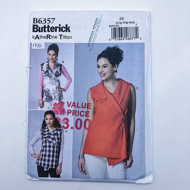 Sewing Pattern - Women - Katherine Tilton - Butterick B6357
