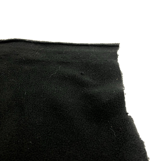 Burnt Charcoal - Polyester Fleece - Black - 1/2 meter