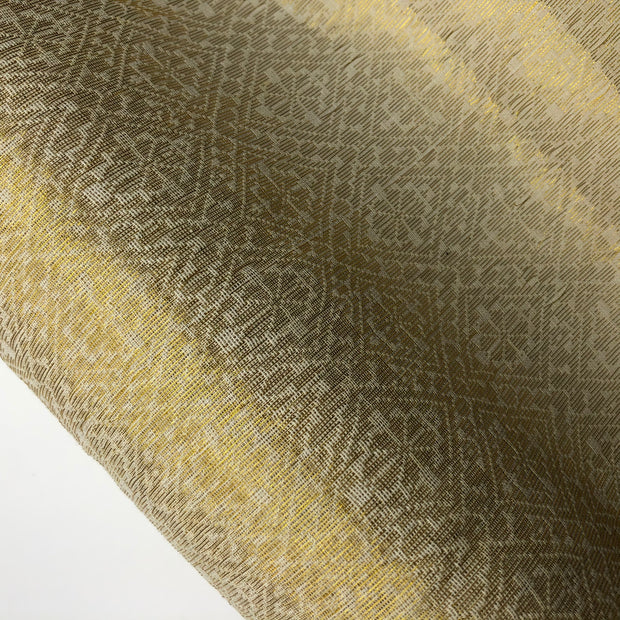 Gold Swiss Schnapps - Cotton Polyester Woven - Gold / White - 1/2 Meter