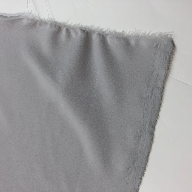 Baby Gray - Polyester Crepe Spandex Woven - Pale Gray - 1/2 Meter