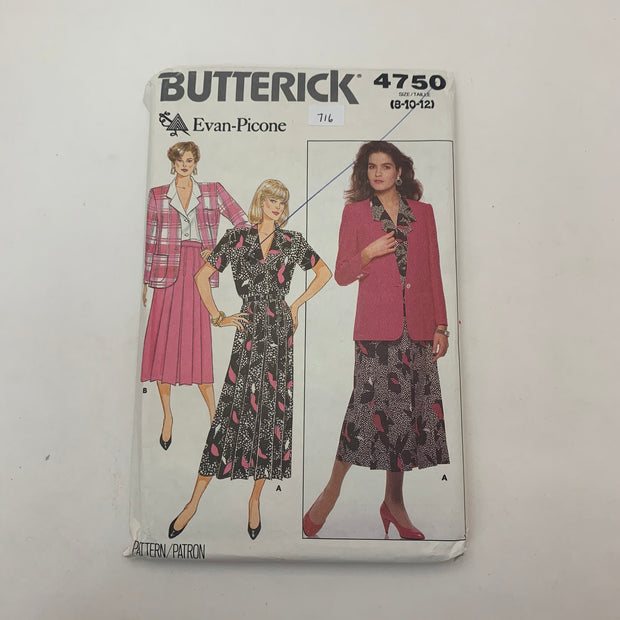 Sewing Pattern Butterick 4750