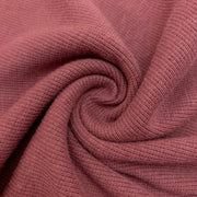 Bamboo Cotton 2X2 Rib - Knit -  Mauve Taupe - 1/2 Meter
