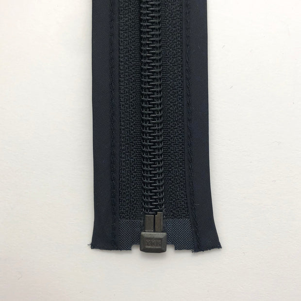 "27.5"" Coil Zipper with Bounded Edge -  Seperating - Black / Black - Individual"