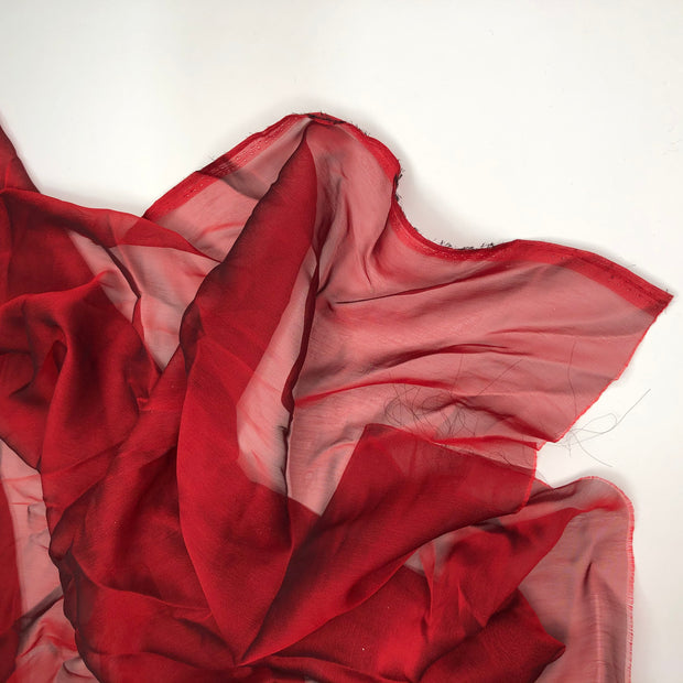 Bye 2020! - Polyester Satin Woven - Red / Black Undertones - 0.70M Bundle