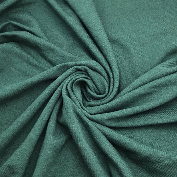 Stanley Park Trees - Bamboo Rayon Terry Knit - Dark Green - 1/2 Meter