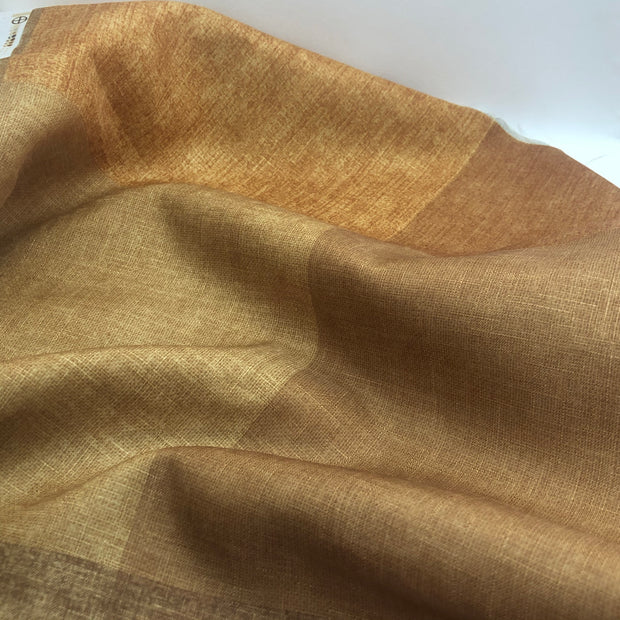 Golden Weave - Poly Woven Upholstery - Gold Orange & Brown - 1/2 Meter