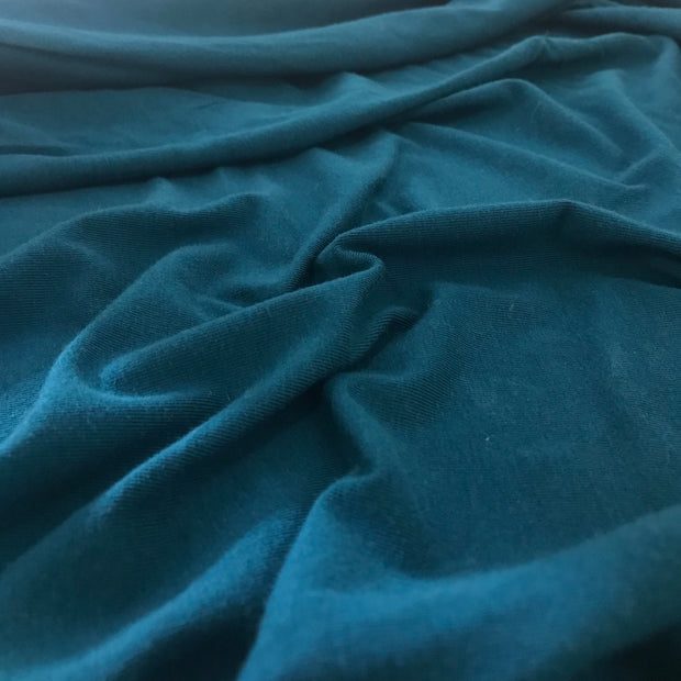 Organic Cotton Tencel - Mermaid Turquoise - 1/2 meter - FABCYCLE shop