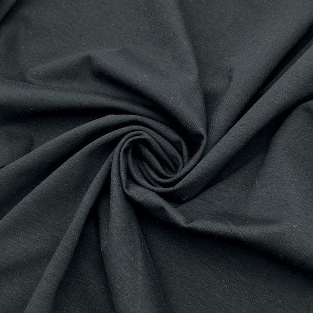 Stanley Park Shadows - Cotton Polyester Knit - Black - 1/2 Meter
