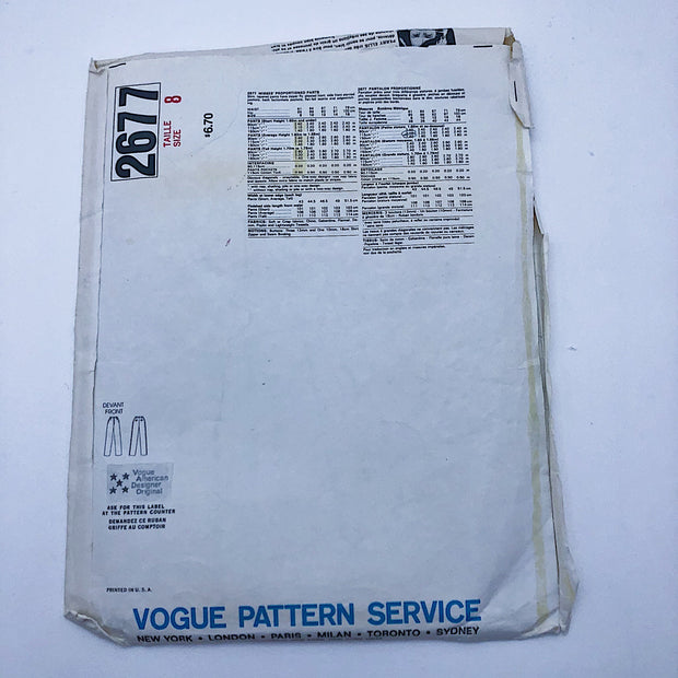 Sewing Pattern - Women - Perry Ellis - Vogue 2677