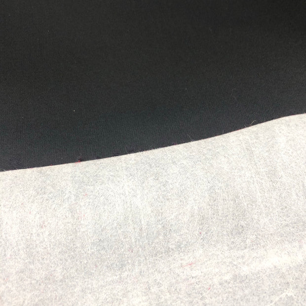 Caviar - Polyester Satin Woven w/ Paper Backing - Black - 1/2 Meter