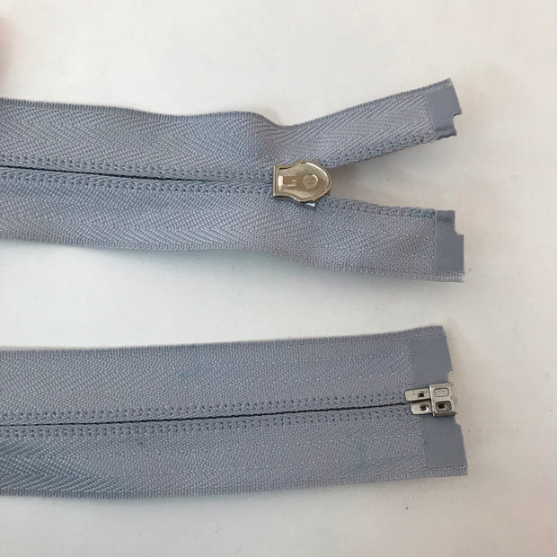 Coil Zipper - Round Pull - Light Grey