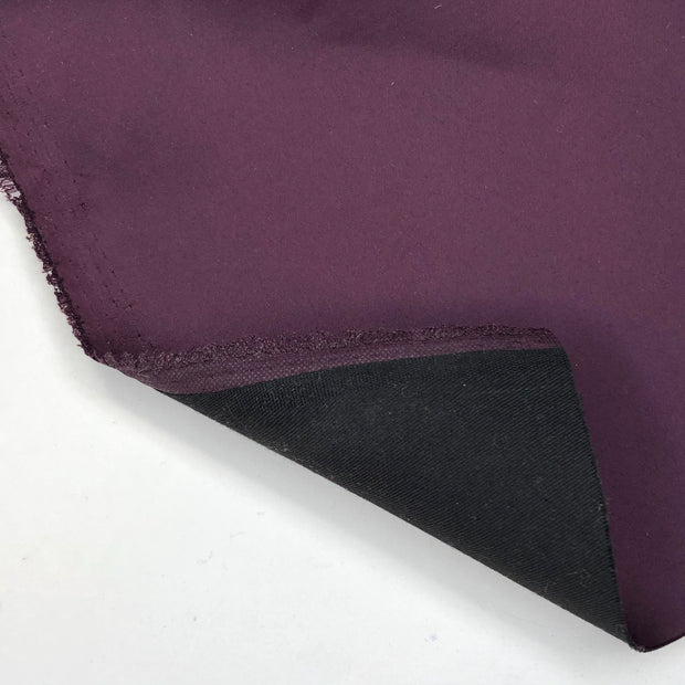 December 28:  Strictly Business - Double Layered Polyester Satin / Cotton Twill - Deep Purple - 1/2 Meter