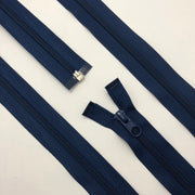 "21"" Coil Zipper -  Seperating - Navy Blue - Individual"