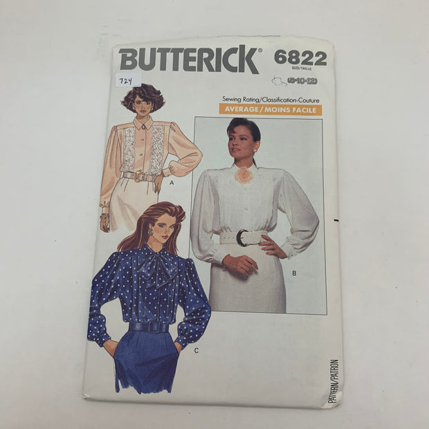 Sewing Pattern Butterick 6822
