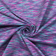 High Vibrations - Polyester Blend Knit - Bright Purple / Pink / Turquoise / Black- 1/2 Meter