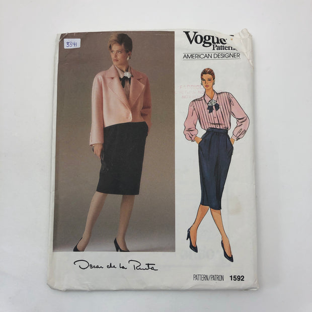 Sewing Pattern - Women - Oscar de la Renta - Vogue 1592