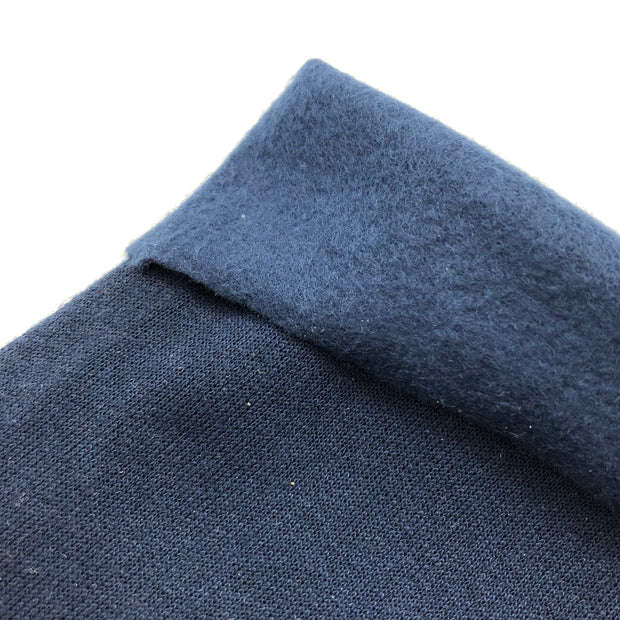 Easy Blue - Cotton Tubular Fleece - Deep Blue - 1/2 Meter & Bundles