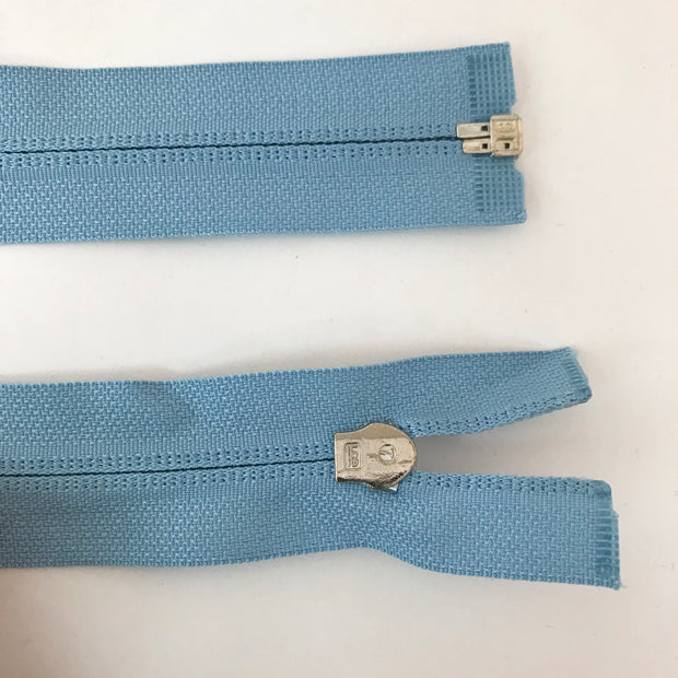 Coil Zipper - Round Pull - Light Blue