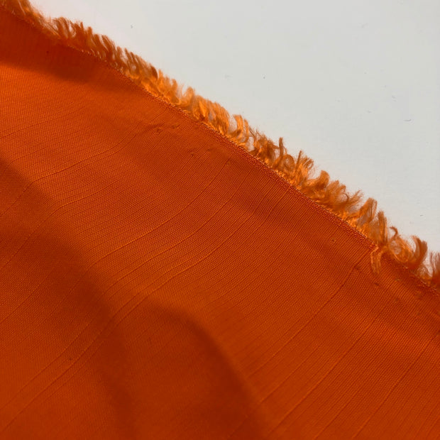 Fuzzy Peach - Cotton Polyester Woven - Bright Orange - 1/2 Meter