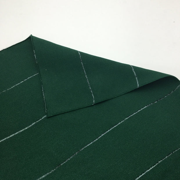 Poly 2X2 Rib Knit - Green Louie - 1/2 Meter