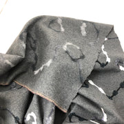 Moon River - Wool Base Acrylic Felt Detail - Grey Black & White - 1/2 Meter