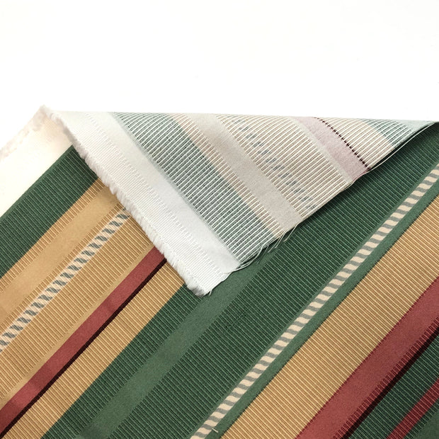 Pastel Candycane - Cotton Woven - Red / Green / Beige - 1/2 Meter