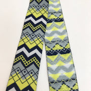 "1"" Trim - Navy And Yellow Chevron - 1M"