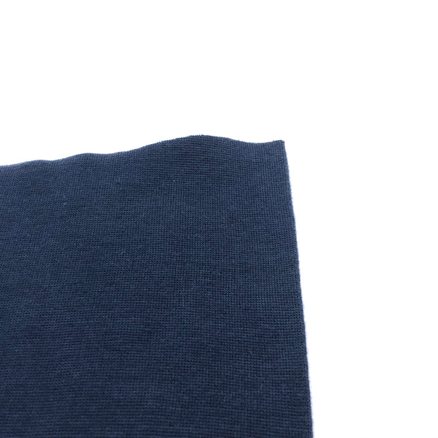 Cotton Polo - Tubular Knit - Ay Ay Captain - Dark Navy - 1/2 Meter & Bundle