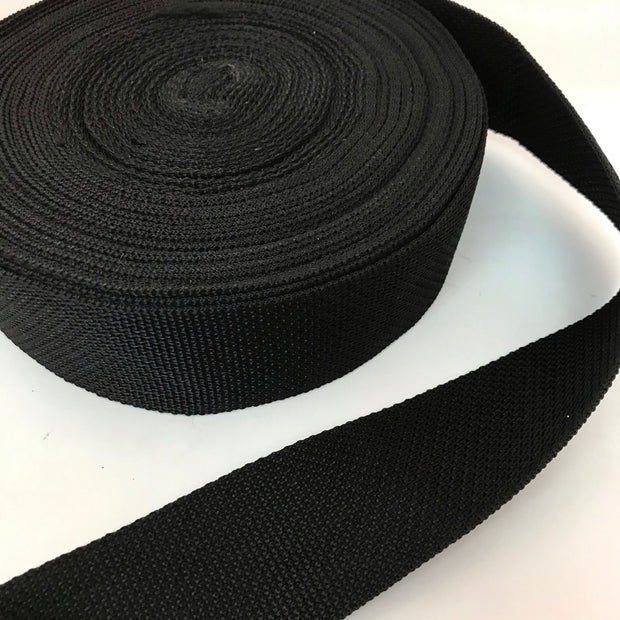 "2"" Webbing Trim - Black - 1M"
