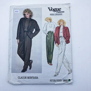 Sewing Pattern - Women - Claude Montana - Vogue 2853