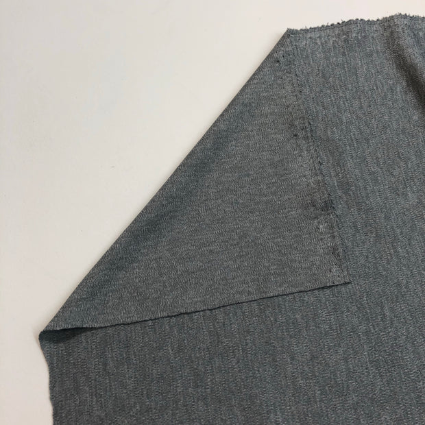 Iced Grey - Polyester Cotton Knit - Grey - 1/2 Meter