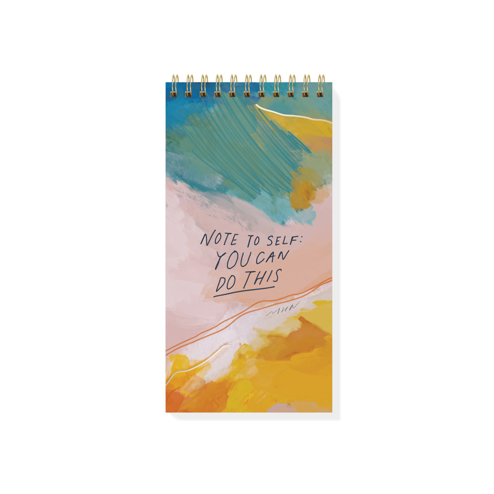 """Note To Self"" Tall Spiral Notepad"