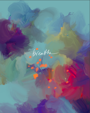 "Load image into Gallery viewer, ""Breathe"" - 8"" x 10"" Print"