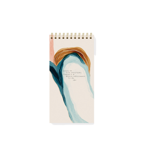 """Brave New Chance To Be"" Tall Spiral Notebook - Garden24"