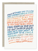 """Make The Most Of Every Day"" Birthday Card"