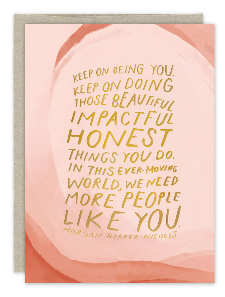 """Keep Being You"" Birthday Card"