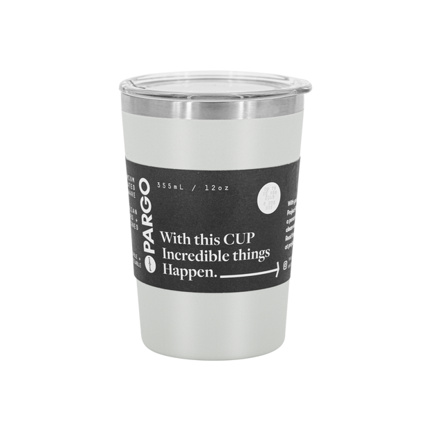 Reusable Insulated Coffee Cup Charcoal Australia 12oz