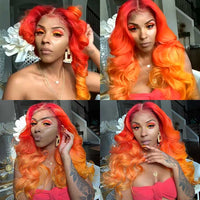 Gorgeous fire ombre orange hair