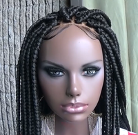 New- 2020 100% Hand-Braided Wig No Glue Goddess Bob Braid Wig