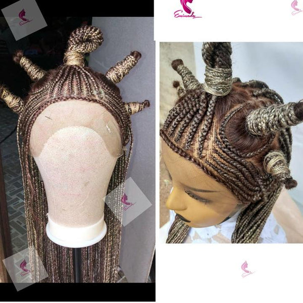 Braided Lace Wig,Handmade,Braided Wig, Ket Wig, Black Is King Wig, Beyonce Wig