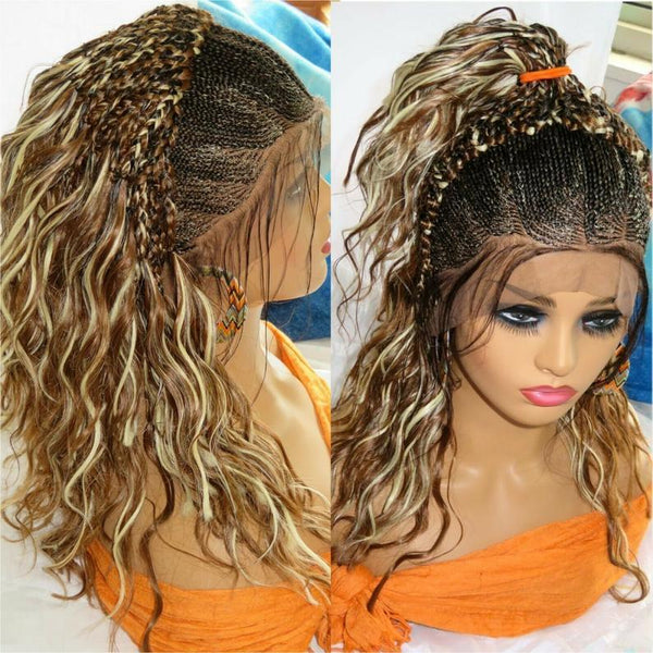 Braided lace wig 13