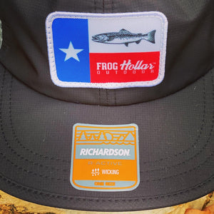Texas Flag Trout Patch (Black/Grey)