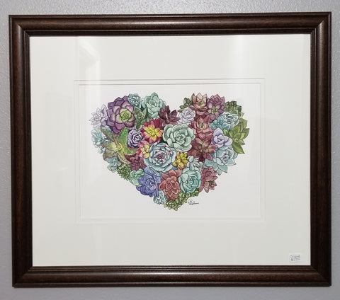 I Heart Succulents - original