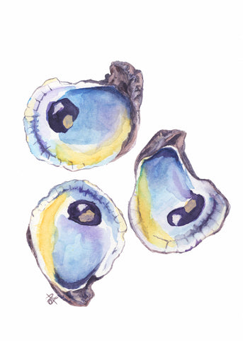 Three Oysters - giclée print
