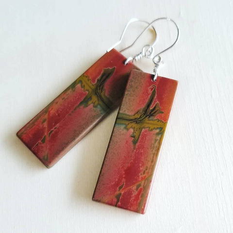 Picasso Jasper and Sterling Silver Earrings