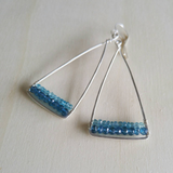 Apatite and London Blue Quartz Earrings