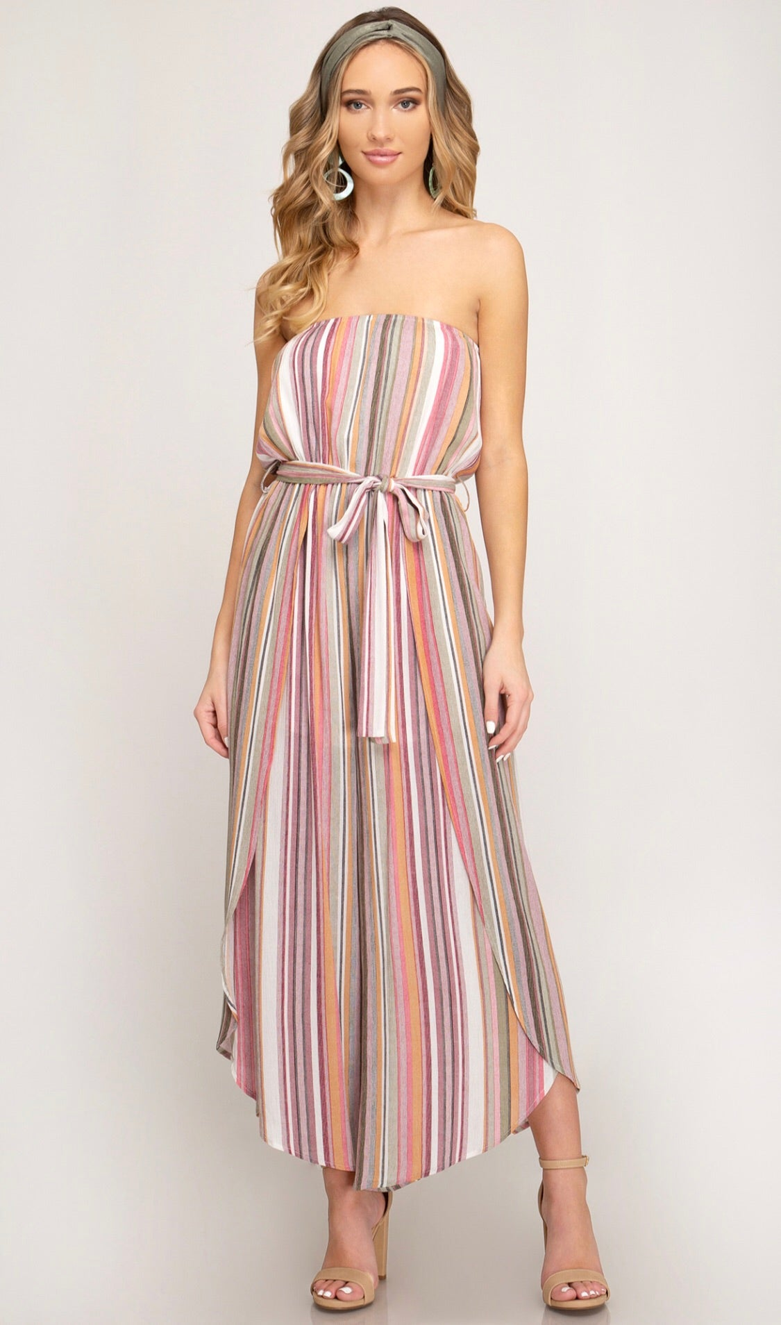 Multi-Colored Stripped Jumpsuit