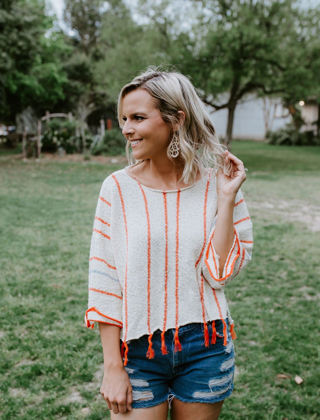 Multi-Colored Tassel Top